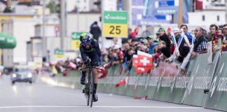 TODAYCYCLING - Ion Izagirre sur la 8e étape duTour de Suisse 2016 qu'il remporte. Photo : Movistar.