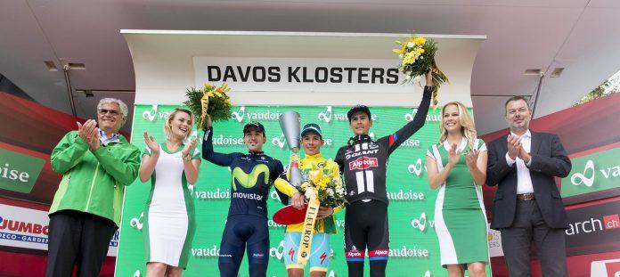 Le podium du Tour de Suisse 2016. Photo : Tour de Suisse.