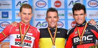 TODAYCYCLING - Le podium du championnat de Belgique en route vers Rio. Photo : Tim De Waele.