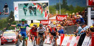 TODAYCYCLING - Michael Matthews remporte sa première victoire sur le Tour de France devant Peter Sagan ! Photo : ASO