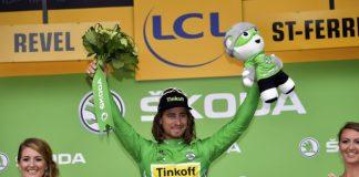 TODAYCYCLING - Le maillot vert du Tour de France n'hésite jamais quand il s'agit d'amuser son entourage. Photo : Tinkoff