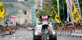TODAYCYCLING - Tony Gallopin lors de sa victoire sur la Clasica San Sebastian en 2013. Photo : Donostiako Klasikoa