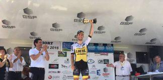 TODAYCYCLING - Tom Van Asbroeck savoure sa victoire. Photo : LottoNL-Jumbo