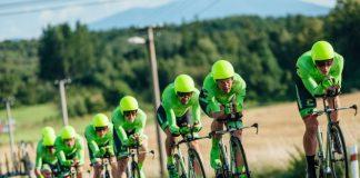 TODAYCYCLING - L'équipe Cannondale-Drapac pendant le contre-la-montre par équipe du Czech Cycling Tour 2016. Photo : Cannondale-Drapac