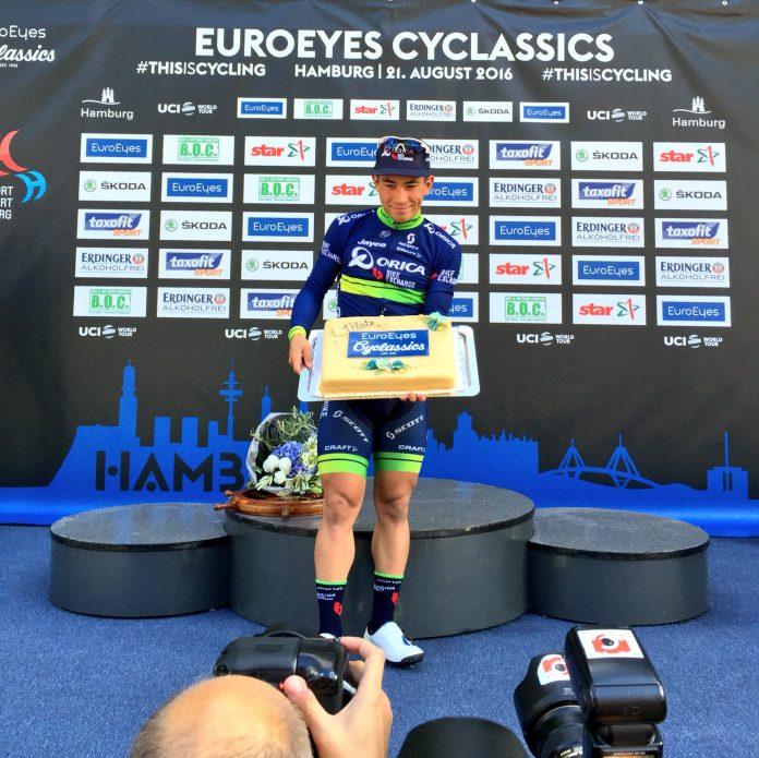 TODAYCYCLING - Caleb Ewan remporte la EuroEyes Cyclassics. Photo : Twitter