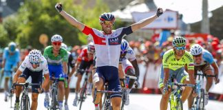 TODAYCYCLING - Jonas Van Genechten remporte avec brio la septième étape de la Vuelta. Photo: Bettini/IAM Cycling