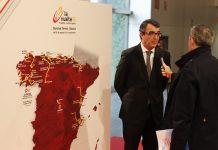 TODAYCYCLING - Le parcours du Tour d'Espagne lors de la présentation de l'épreuve. Photo : Unipublic/Vuelta