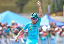 TODAYCYCLING - A 22 ans, déjà vainqueur du Tour de Suisse cette saison, le colombien Miguel Angel Lopez affiche une véritable capacité à briller dans les années à venir au plus haut niveau du cyclisme mondial. Photo : Astana
