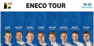 TODAYCYCLING - La composition de la FDJ pour l'Eneco Tour. Photo : FDJ
