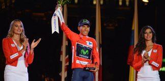 TODAYCYCLING - Nairo Quintana, sacré sur le Tour d'Espagne 2016 et désormais numéro 1 mondial ! Photo : Movistar