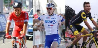 TODAYCYCLING - Les trois grands su sprint français : Nacer Bouhanni, Arnaud Demare, Bryan Coquard.