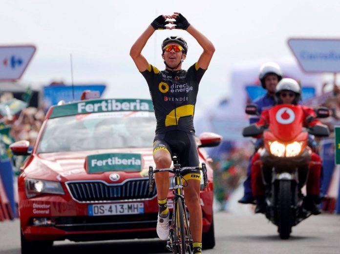 TodayCycling - Lilian Calmejane fait partie des six coureurs Continental Pro à avoir battu un peloton Wolrd Tour en 2016. Photo : Direct Energie