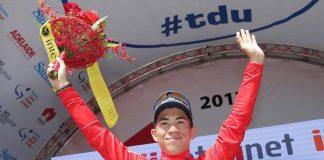 TODAYCYCLING.COM - Caleb Ewan leader du classement par points. Photo : Tour Down Under