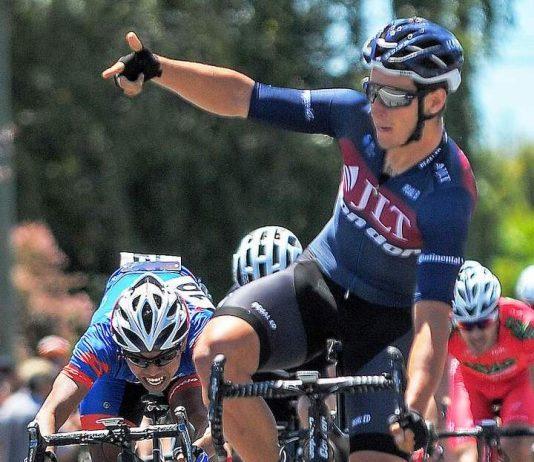 TODAYCYCLING.COM - Alex Frame s'impose sur l'étape 3 de la New Zealand Cycle Classic. Photo : Twitter