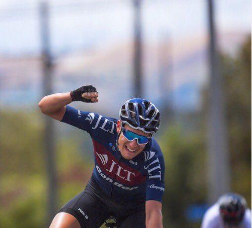 TODAYCYCLING.COM - Jon Mould vainqueur de la 4ème étape de la New Zealand Cycle Classic. Photo : Twitter