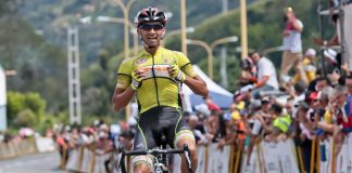 TODAYCYCLING.COM - Carlos Torres remporte l'étape en solitaire. Photo : Vuelta al Tachira