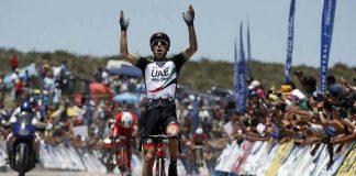TODAYCYCLING.COM - Rui Costa vainqueur au sommet de l'Alto Colorado. Photo : UAE Abu Dhabi