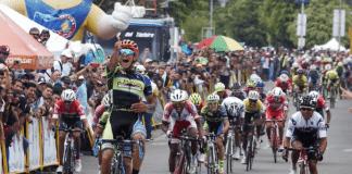 TODAYCYCLING.COM - Yonathan Monsalve a remporté l'étape 3 de la Vuelta al Tachira. Photo : Vuelta al Tachira