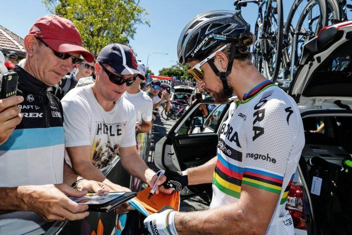 TODAYCYCLING - Peter Sagan, l'un des principales attractions du Tour Down Under - Photo: Facebook Bora-Hansgrohe