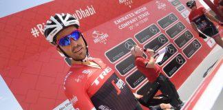 Alberto Contador (Trek-Segafredo) chute lors du Tour d'Abu Dhabi