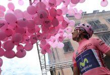 Nairo Quintana (Movistar) reconnaît le tracé du Tour d'Italie