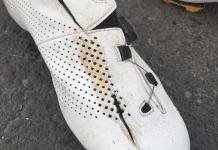 La chaussure d'Owain Doull tranchée par les freins à disque de Marcel Kittel?
