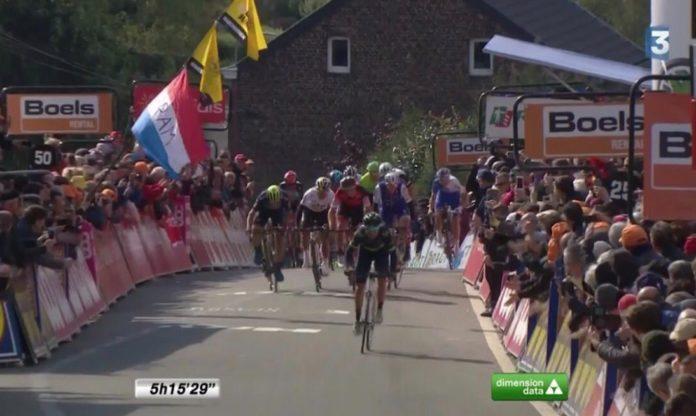 Alejandro Valverde s'impose pour la cinquième fois au sommet du Mur de Huy, sur La Flèche Wallonne