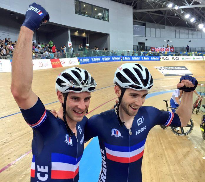 L'équipe de France de l'américaine, composée de Benjamin Thomas et Morgan kneisky, se pare d'or à Hong Kong