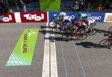 Thibaut Pinot battu au sprint sur la 4e étape du Tour des Alpes par Matteo Montaguti