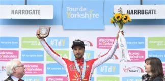 Nacer Bouhanni (Cofidis) a remporté la deuxième étape du Tour du Yorkshire devant Caleb Ewan (Orica-Scott) et Jonathan Hivert (Direct Energie)