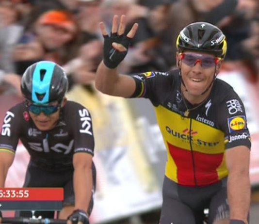 Philippe Gilbert bat Michal Kwiatkowski au sprint sur l'Amstel Gold Race