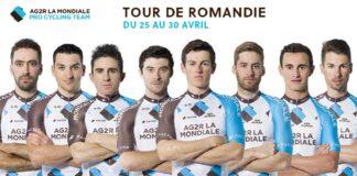 Sartlist de l'équipe cycliste Ag2r La Mondiale sur le Tour de Romandie 2017