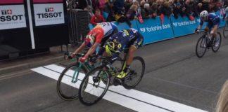 Dylan Groenewegn remporte la 1ère étape du Tour de Yorkshire au sprint