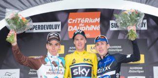 Chris Froome devant Romain Bardet et Dan Martin sur le Critérium du Dauphiné 2016