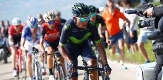 Nairo Quintana à l'attaque sur les pentes du Blockhaus pendant le Giro 2017