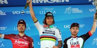 Peter Sagan sur le podium du Tour de Californie 217