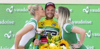 Damiano Caruso (BMC Racing Team), nouveau maillot jaune du Tour de Suisse