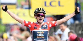 Koen Bouwman (LottoNL-Jumbo) remporte la 3ème étape du Dauphiné Libéré 2017 avec la maillot à pois sur les épaules