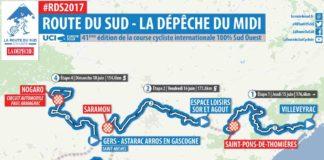 Parcours de la 41e édition de La Route du Sud 2017