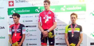 Podium des championnats nationaux de cyclisme 2017