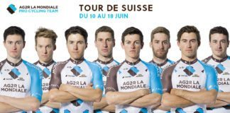 L'équipe AG2R La Mondiale sur le Tour de Suisse 2017