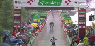 A l'issue de l'étape reine du Tour de Suisse 2017, Domenico Pozzovivo (AG2R) s'est magnifiquement imposé. Le grimpeur italien a devancé