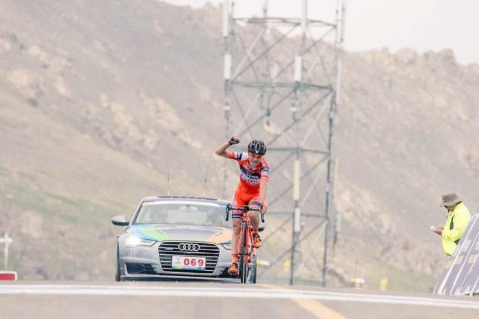 Damiano Cunego remporte la 6e étape du Tour of Qinghai Lake 2017