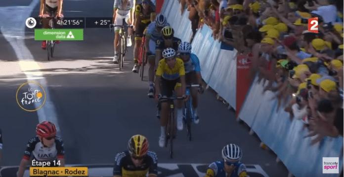 Une 14e étape difficile pour fabio Aru dans le Tour de France
