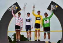 Le podium des maillots distinctifs du Tour de France 2017