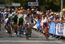 Tour de l'Avenir 2017, 6e étape : l'arrivée à St-Amand-Montron s'est terminée au sprint. C'est le sprinteur colombien Alvaro Hodeg qui