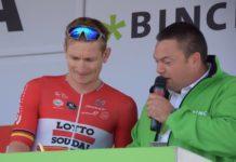 Le sprinteur allemand André Greipel (Lotto-Soudal) frustré de ne plus trouver le chemin de la victoire