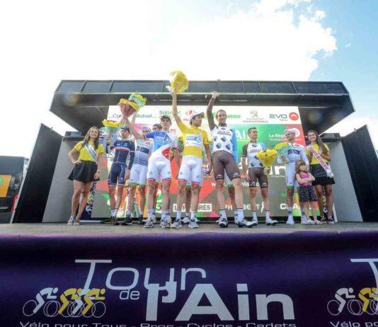 Thibaut Pinot sur le podium du Tour de l'Ain 2017