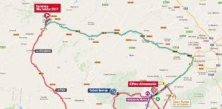Vuelta 2017 parcours carte de la 10e étape