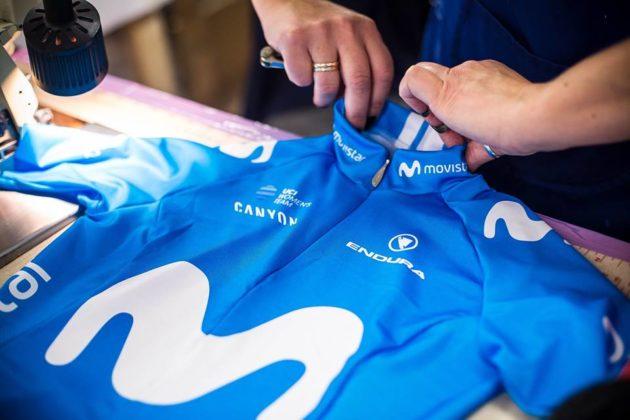 Le maillot de l'équipe Movistar passe au bleu pour 2018